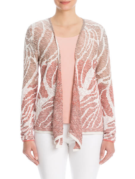 Sunset Coral cardy by Nic + Zoe | Bijou Boutique, London,ON